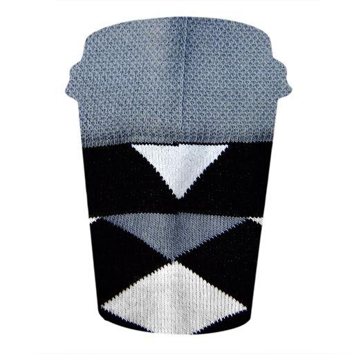 Szare skarpety w biało czarne romby [|] #cupofsox #skarpetki #skarpetka #socks #sock #womensocks #mensocks #koloroweskarpetki [|]