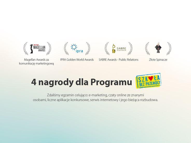 4 nagrody dla Programu SZKOŁA BEZ PRZEMOCY #migomedia