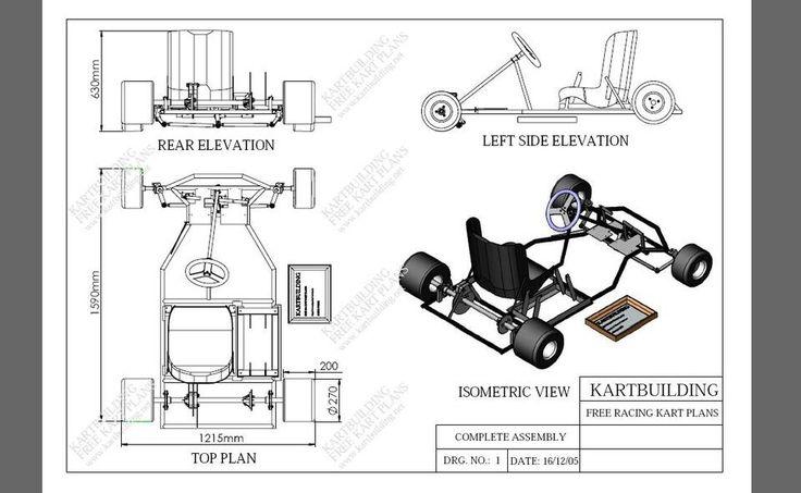 Gokart Plans 3d Cad Model Grabcad Inspiration Go
