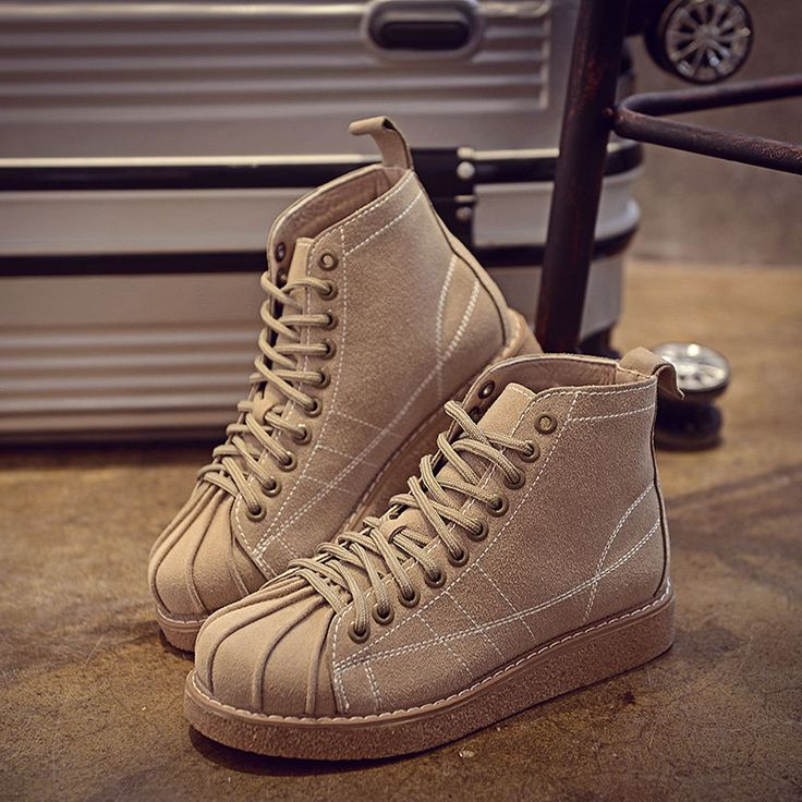 Womens Girl Korea Style Preppy Shell Toe Lace Up Ankle Boots Platforms Flat Shoe