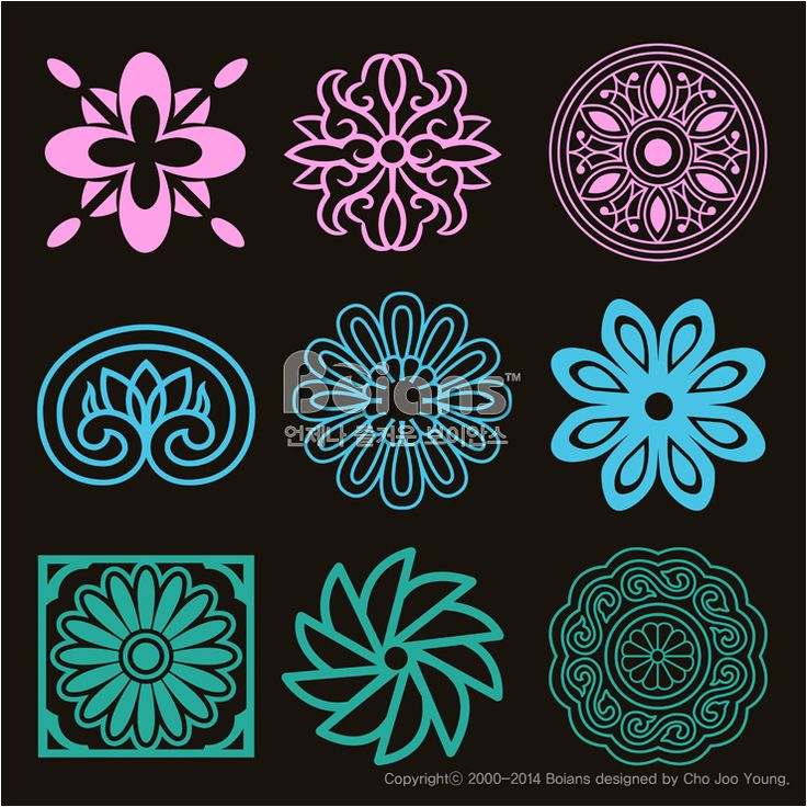 꽃과 식물 문양 패턴. 한국 전통문양 패턴디자인. (BPTD020142) Flower and Plant Pattern Design. Korean traditional Pattern is a Pattern Design. Copyrightⓒ2000-2014 Boians.com designed by Cho Joo Young.