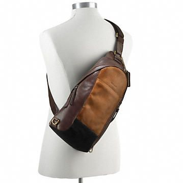 Coach :: BLEECKER CONVERTIBLE SLING PACK IN COLORBLOCK LEATHER ...