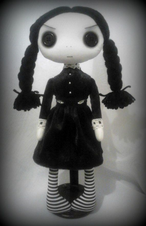 Gothic Art Rag Doll Wednesday Reserved for by ChamberOfDolls