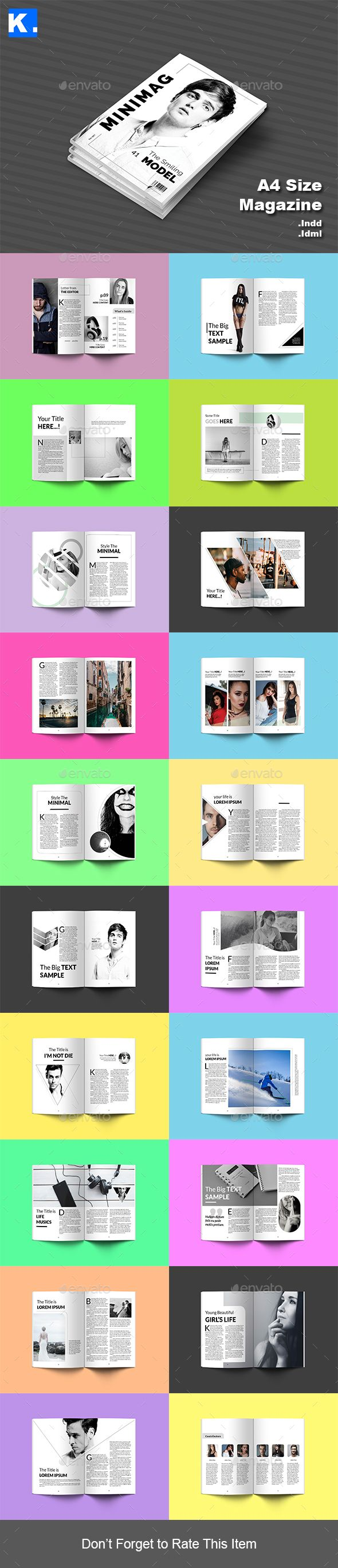 Indesign Magazine Template 3 - Magazines Print Templates