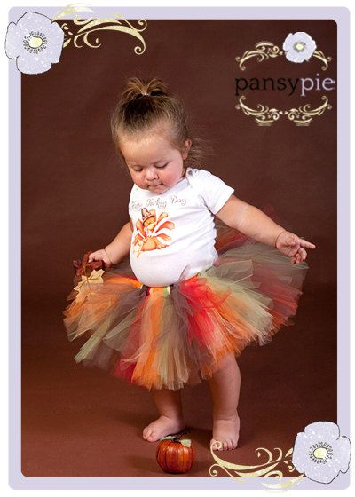 Baby Thanksgiving Outfit Fall Tutu Dress by PansyPieBoutique, $32.99