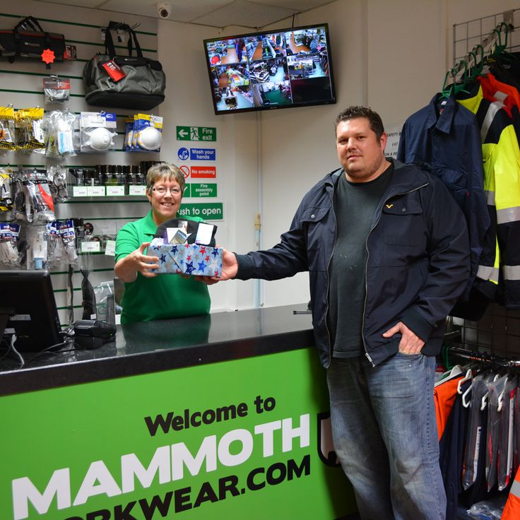 "Kevin Dickens was the winner of our December Peterborough store giveaway competition of Nokia Lumia phone, Capacitive Gloves and a Thermal hat. Kevin says ""As a local tradesman I have used Mammoth Workwear for a number of years, brilliant staff and good range of products. Prices are always good too"" Well done Kevin! Click this image to find about our next competition!"