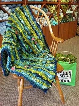 Pretty throw made our of Pagewood Farm yarns. Love the colors and the wild textures.Farms Yarns, Wild Texture, Pretty Throw, Pagewood Farms