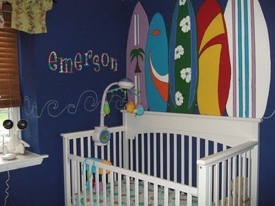 18 best images about ocean themed baby 39 s room on pinterest for Surf nursery ideas