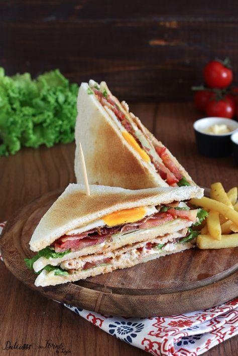 Club Sandwich ricetta originale con pollo, bacon e uovo – ClubHouse Sandwich Dulcisss in forno
