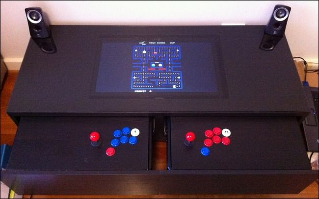DIY Coffee Table Arcade Hides Retro Gaming Inside - How-To Geek -Yusss! We need to build this!