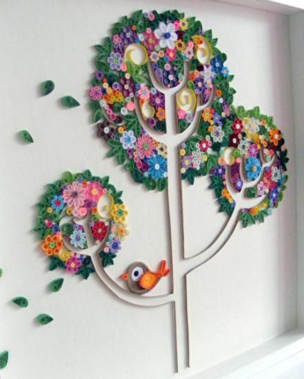 Cuadro decorado con papel