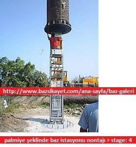 Ağaç gizlemeli baz istasyonu montajı
