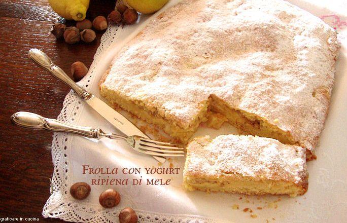Frolla+con+yogurt+ripiena+di+mele