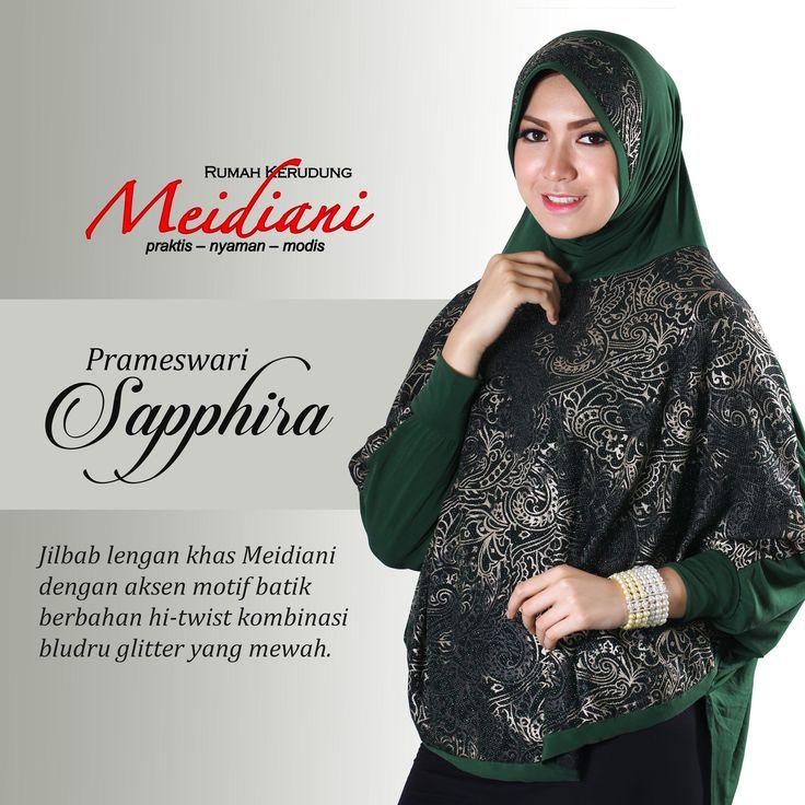 sapa sih yg akan menolak jilbab lengan nan elegan ini? #PRAMESWARISAPPHIRA dari brokat material yg dipadukan dgn hi twist cantik..