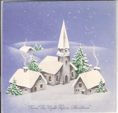Painting Church In Snow Religious Christmas Ceramic: 1000+ Images About Vintage Christmas Churches On Pinterest