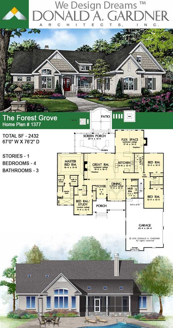 The Forest Grove Home Plan 1377 In 2020 Craftsman House Plans House Plans Farmhouse New House Plans