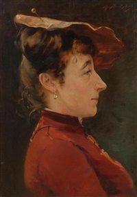 Frauenbildnis by Auguste Baud-Bovy