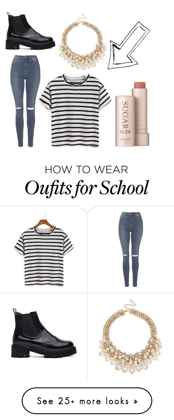 """School 1 "" by perfectwitch on Polyvore featuring Topshop and Fresh"