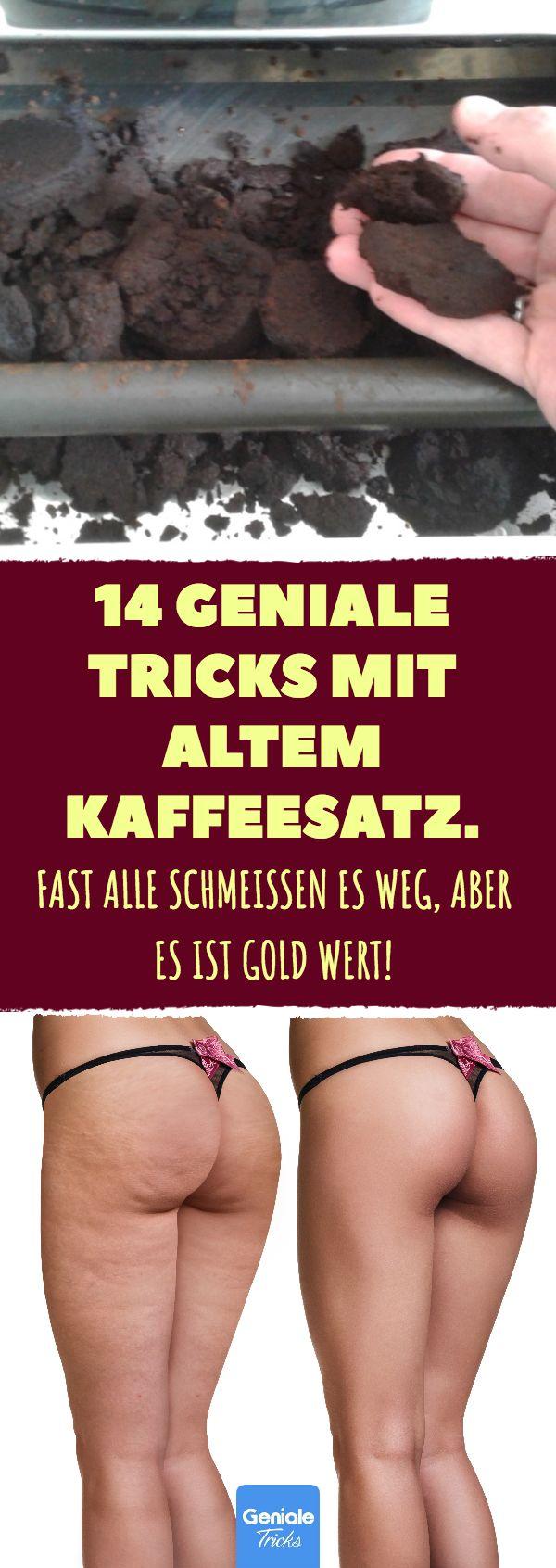14 Tricks mit altem Kaffeesatz. #kaffeesatz #wiederverwertung #upcycling #haushalt #körper #hausmittel #cellulite #schädlinge #kompost #kaffee #augenringe #putzen