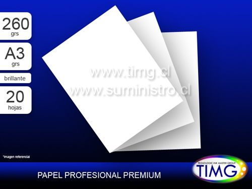Papel Fotográfico Premium Glossy h260 tamaño A4 20 hojas - 260 gramos - http://www.suministro.cl/product_p/5107020006.htm