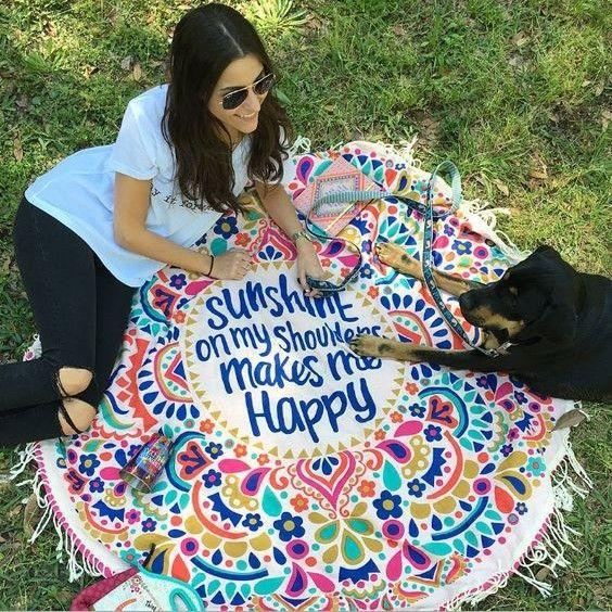 >> Click to Buy << A thin cotton round amazing shawl beach towel, beach mat summer sun shawl wholesale beach cover up  yoga mat #Affiliate