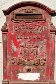old italian country mailbox