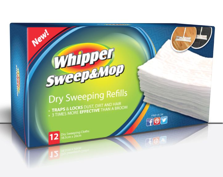Whipper textured thick sweeper refills