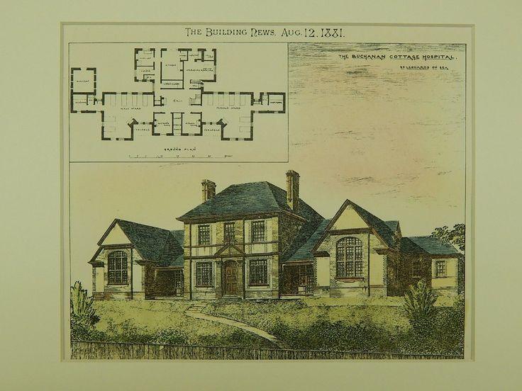 The Buchanan Cottage Hospital, St. Leonard's-on-Sea,Hastings, UK, 1881, Original Plan.