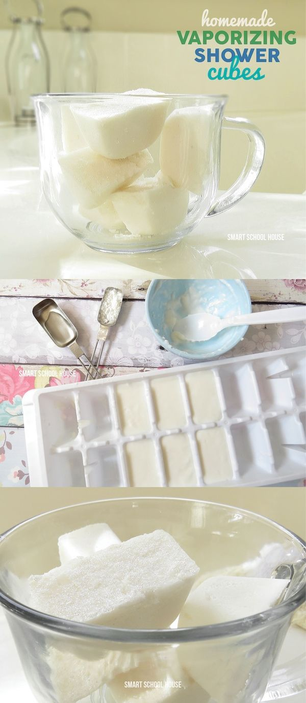 Feeling stuffy? Give these DIY shower cubes a try! Homemade Vaporizing Shower Cubes tutorial (without menthol).