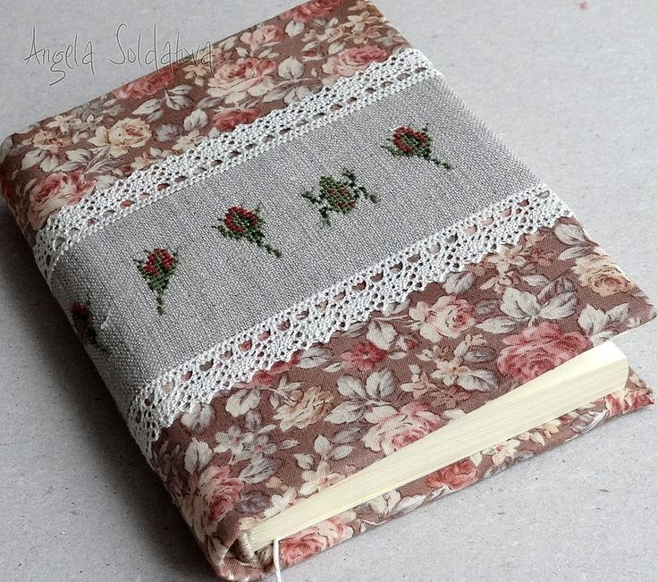 Sew your own book cover.