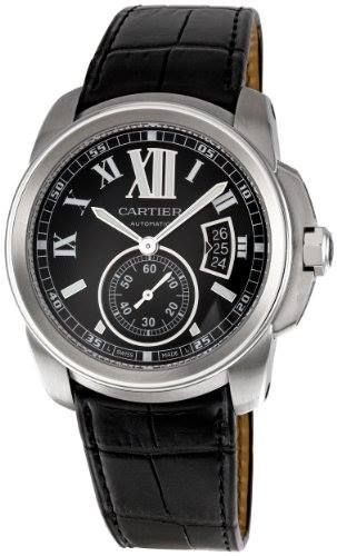 http://ift.tt/2qUUt2k Check Price https://goo.gl/dGBBsA  Cartier Men's W7100041 Calibre de Cartier Leather Strap Watch                            Stainless steel case with a black leather bracelet. Fixed stainless steel bezel. Black dial with luminescent white oxidized-steel hands and white Roman numeral hour markers. Minute markers around the outer rim. Date display at the 3 o'clock. Seconds sub-dial above the 6 o'clock position. Automatic movement. Scratch resistant sapphire crystal…