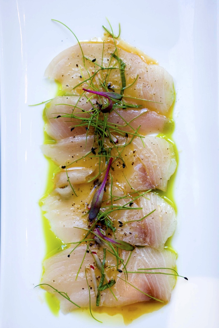 A delicious plate of hamachi prepared by one of Big City Chefs' exclusive private chefs at a Chicago dinner party.