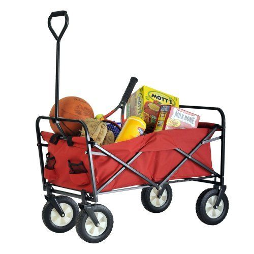 "Sandusky Lee FCW3622 Red Polyester Fabric Light Duty Folding Wagon with Solid Steel Frame, 150 lbs Capacity, 36"" Length x 22"" Width x 25-1/2"" Height by Sandusky Lee. $102.50. Conveniently folds for easy storage. Durable 600 denier polyester fabric. Strong solid steel frame and swivel and swivel handle for easy steering. Cover included."