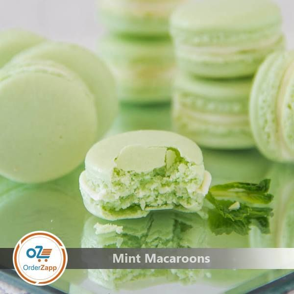 En iyi 17 fikir french macarons order online pinterestte acbadem order mint macaroons online from orderzapp refreshing mint french macarons with mint buttercream frosting urmus Image collections
