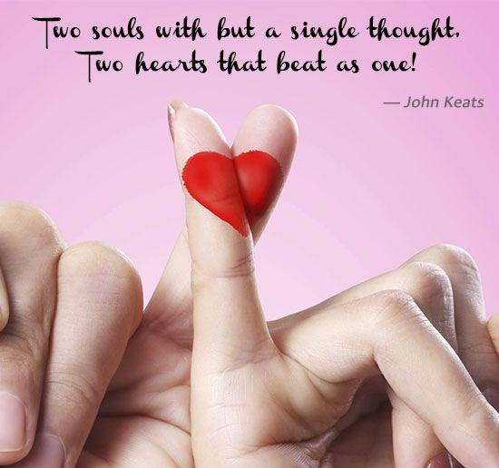 John Keats on Two Hearts as One
