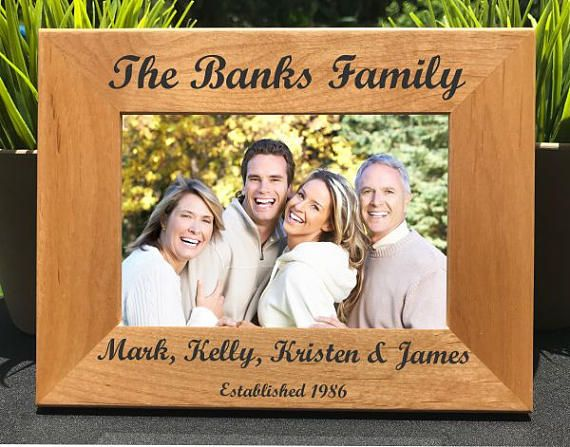 PB+3 precision laser engraved photo frames make great gifts or additions to your home or office.  Our frames are made from top quality, all natural, red alder wood. Frames feature an easel back design for table top display, or come ready for wall mounting. Each frame comes in a gift box with