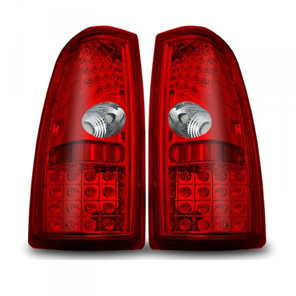 WinJet WJ20-0006-08 | 2000 Chevy Silverado Red LED Taillights for SUV/Truck/Crossover