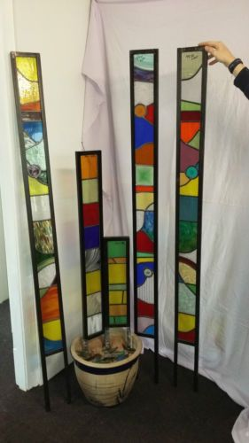 Stained-glass-garden-art-frames-Glazed-or-Unglazed