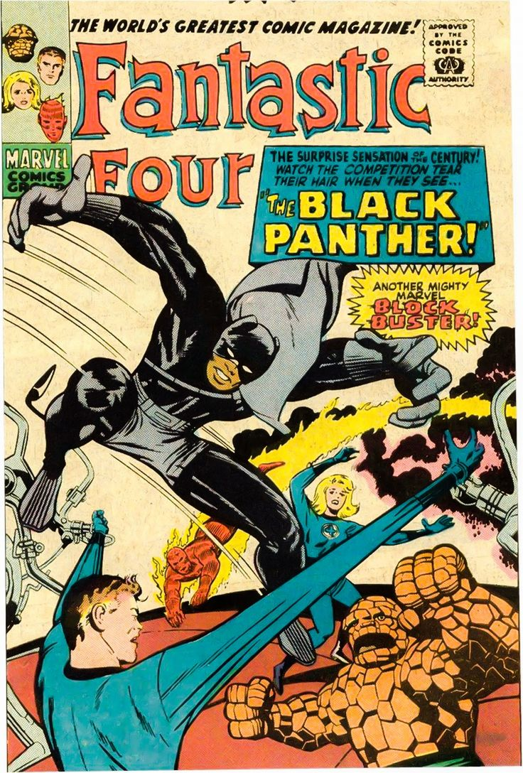 1st appearance of the Black Panther in Fantastic Four