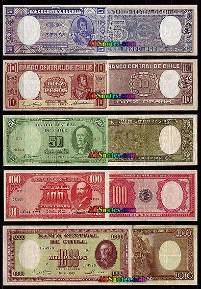 moneda Chile | billetes Chile - Chile catálogo papel moneda y moneda chilena