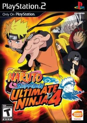 Naruto Ultimate Ninja 4 Shippuden PS2 Used Game