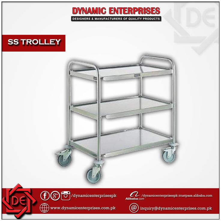 #SSTrolleys  Stainless Steel Trolleys are manufactured using quality stainless steel and feature corrosion resistant finish, thus adding to the durability of the product.  -> For More #Details: inquiry@dynamicenterprises.com.pk -> For More #Products: http://www.dynamicenterprises.com.pk/product/  #DynamicEnterprises #Hospital #Furniture #LaboratoryFurniture #Laboratory #HospitalFurniture #InstitutionalFurniture #RackingStorage #CleanRoomSolutions #EmployeeLockers