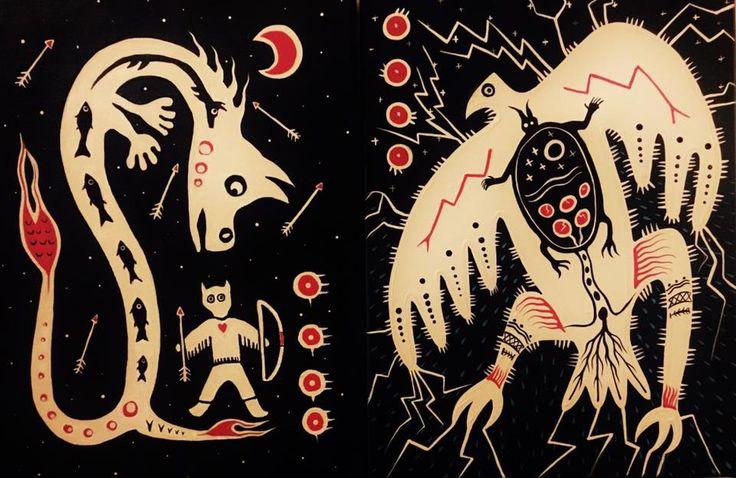 Christi Belcourt and Isaac Murdoch: Serpents & Thunderbirds ...