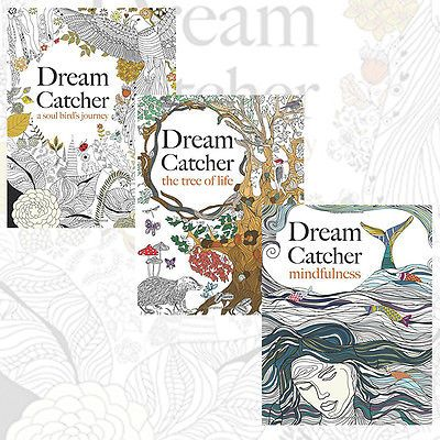 dream catcher anti stress colouring 3 book art therapy pack at wholesale price - Wholesale Coloring Books 2