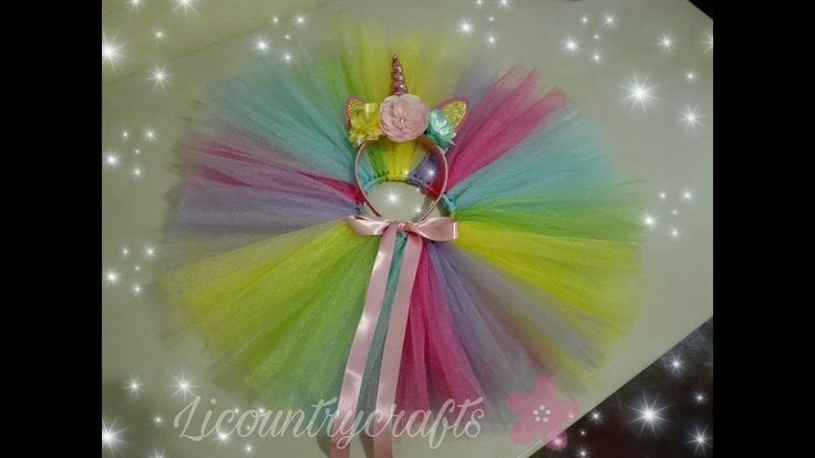 tutu unicornio super facil! / unicorn tutu easy