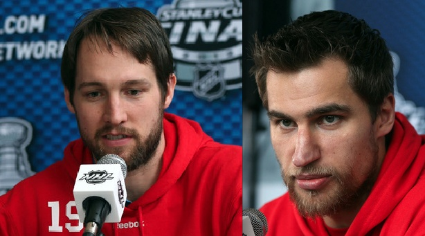 Beard Competition on the Devils, Dainius Zubrus vs. Travis Zajac