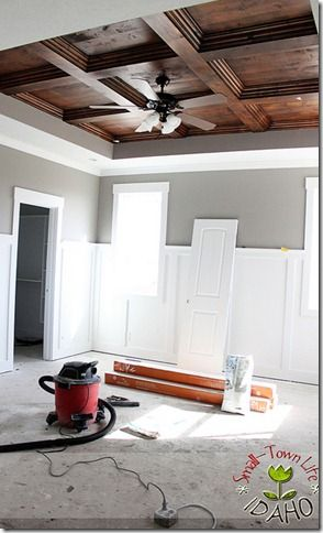 Favorite projects of 2012- Coffered Wood Ceiling Tutorial
