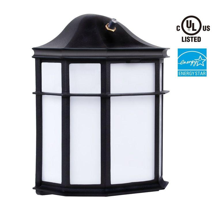 Photocell LED Outdoor Wall Light, 23W, Energy Star,5000K Daylight,Wet Location, Silver aluminum