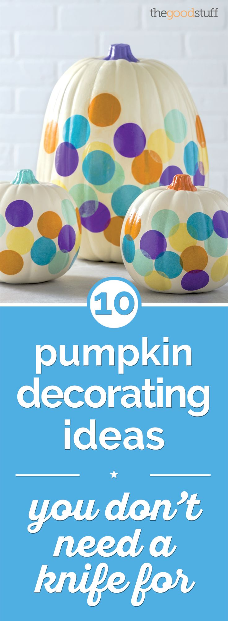 Looking for a mess-free way to decorate pumpkins? 10 ideas we love including these adorable Confetti Pumpkins!