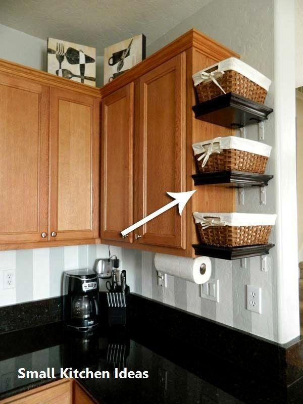 Small Kitchen Ideas Diy Small Kitchen Smallkitchen Clutter Free Kitchen Diy Kitchen Storage Kitchen Remodel